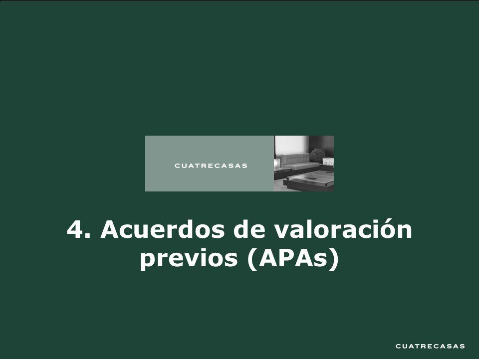 20 4. Acuerdos de valoración previos (APAs)