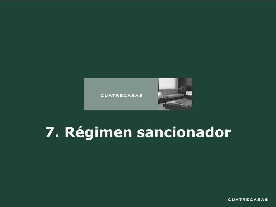 30 7. Régimen sancionador