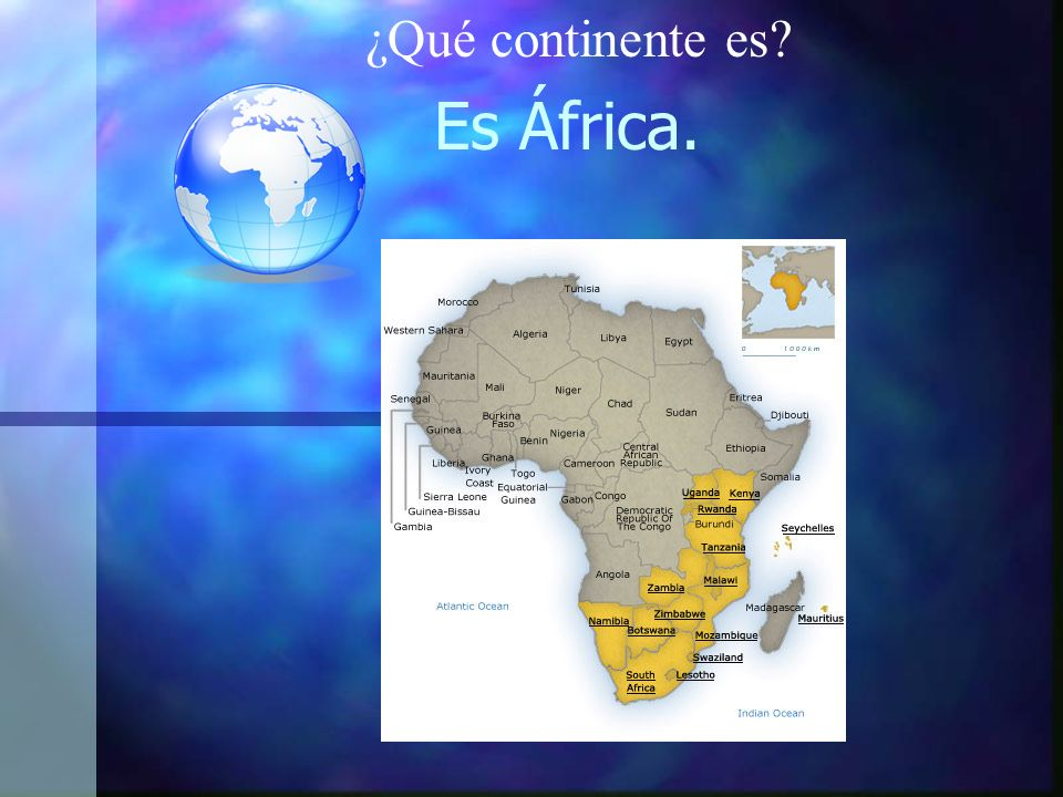 Es África. ¿Qué continente es?