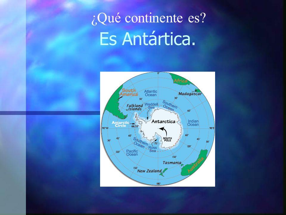 Es Antártica. ¿Qué continente es?