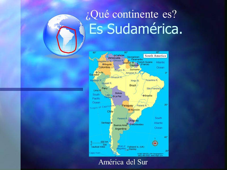 Es Sudamérica. América del Sur ¿Qué continente es?