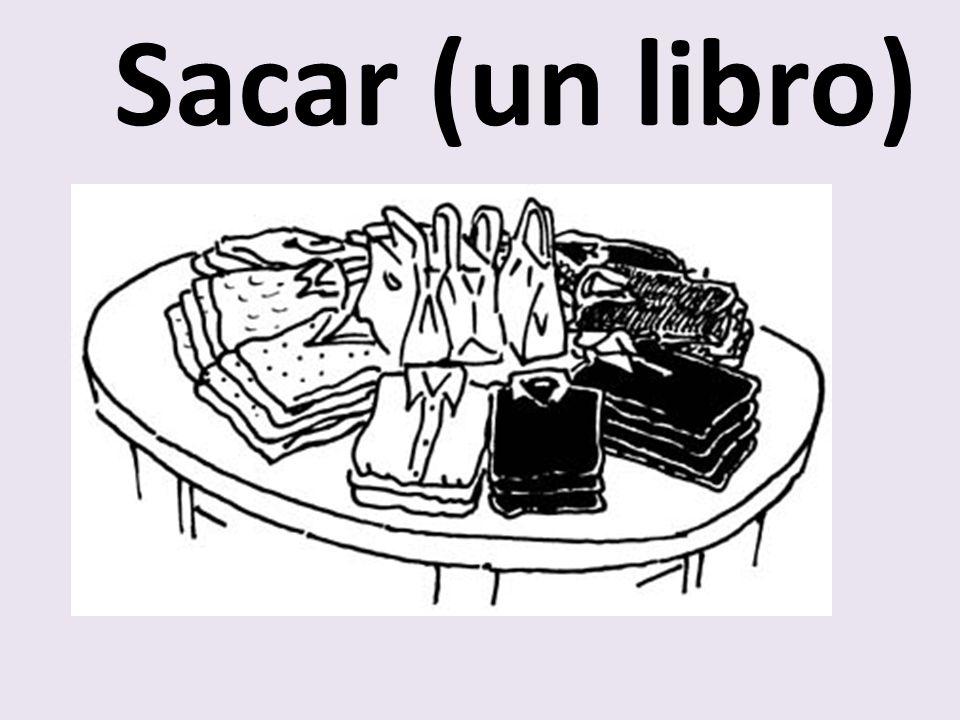 Sacar (un libro)