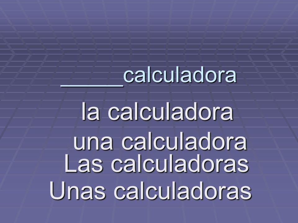 _____calculadora la calculadora la calculadora una calculadora una calculadora Las calculadoras Unas calculadoras