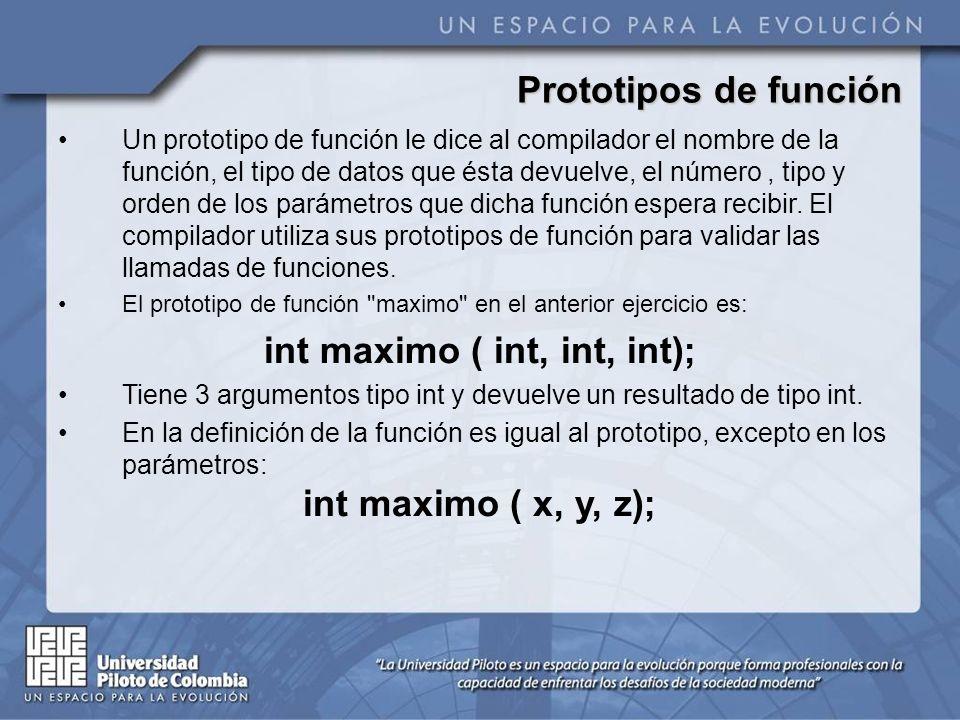Prototipos de función
