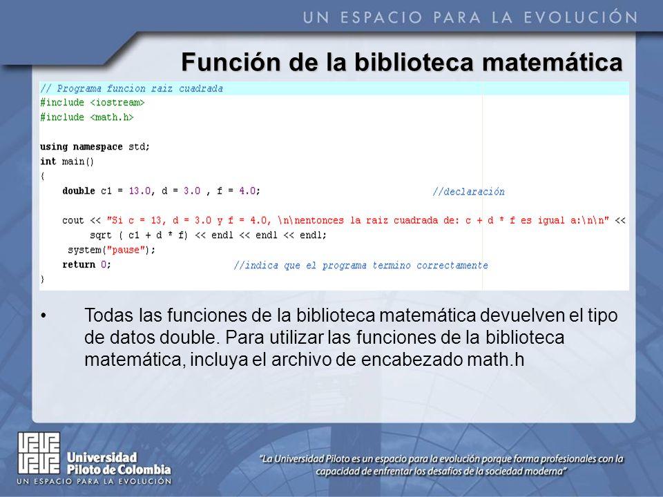 Funciones Las funciones le permiten al programador modularizar sus programas.