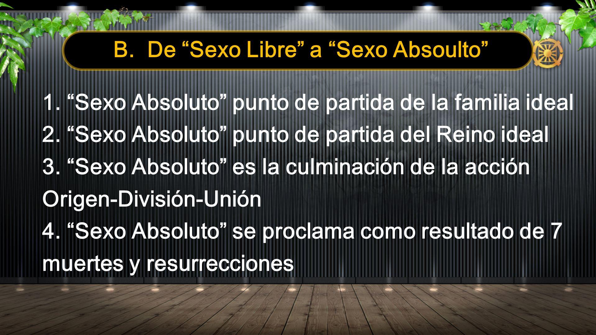 II.El Concepto de Sexo Absoluto y los Atributos del Órgano Sexual A.