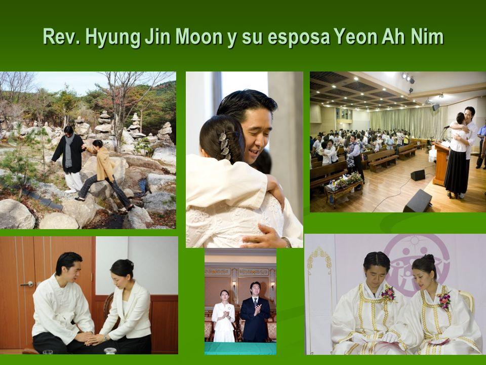 Rev. Hyung Jin Moon y su esposa Yeon Ah Nim
