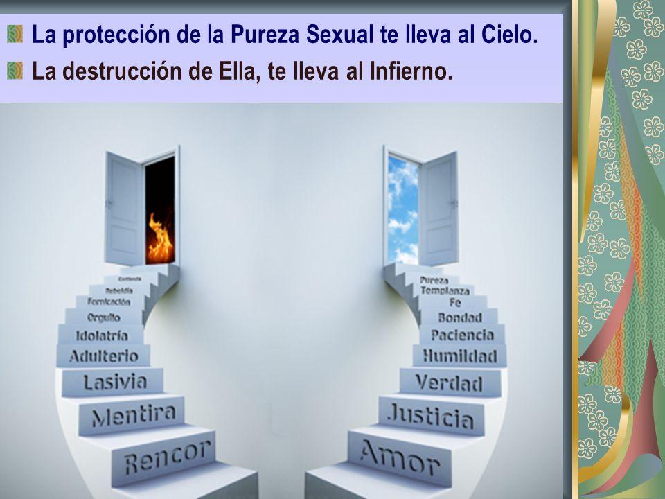 La protección de la Pureza Sexual te lleva al Cielo. La destrucción de Ella, te lleva al Infierno.