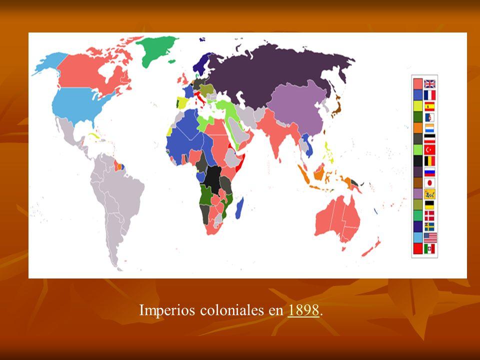 Imperios coloniales en 1898.1898