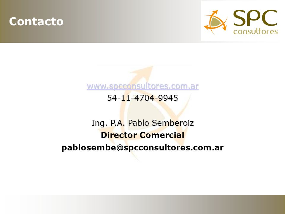 www.spcconsultores.com.ar 54-11-4704-9945 Ing. P.A.