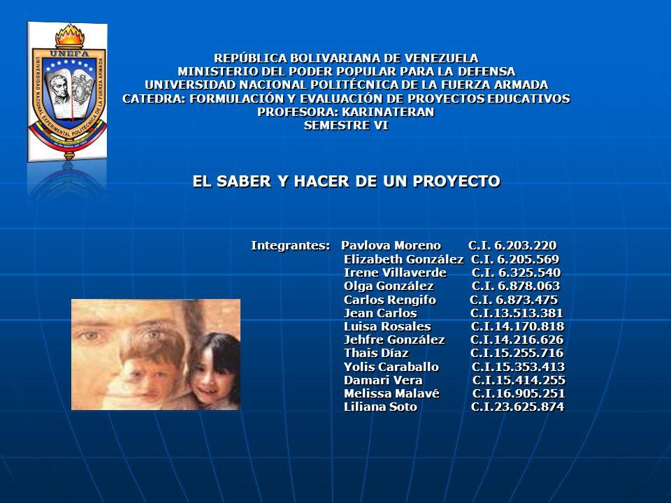 REPÚBLICA BOLIVARIANA DE VENEZUELA MINISTERIO DEL PODER POPULAR PARA LA DEFENSA UNIVERSIDAD NACIONAL POLITÉCNICA DE LA FUERZA ARMADA CATEDRA: FORMULAC