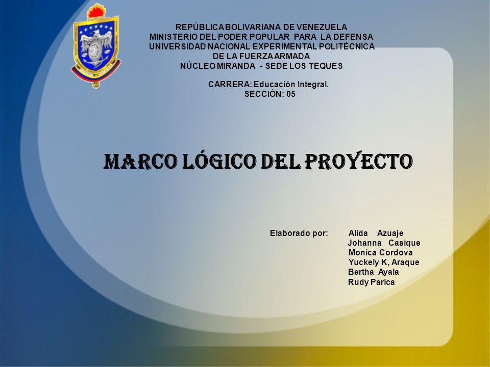 REPÚBLICA BOLIVARIANA DE VENEZUELA MINISTERIO DEL PODER POPULAR PARA LA DEFENSA UNIVERSIDAD NACIONAL EXPERIMENTAL POLITÉCNICA DE LA FUERZA ARMADA NÚCL