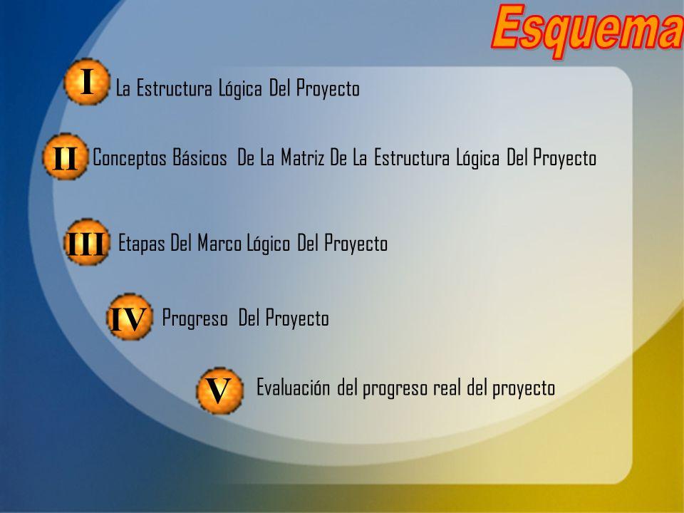 La Estructura Lógica Del Proyecto Conceptos Básicos De La Matriz De La Estructura Lógica Del Proyecto Etapas Del Marco Lógico Del Proyecto Progreso De