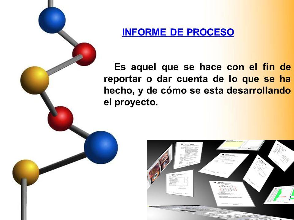 EL INFORME FINAL DEL PROYECTO Es una exposición clara y completa del tema tratado en el trabajo, de la metodología utilizada, resultados obtenidos y conclusiones alcanzadas.
