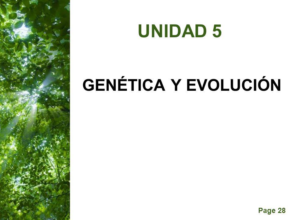 Page 28 GENÉTICA Y EVOLUCIÓN UNIDAD 5