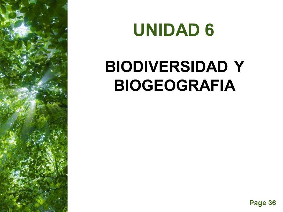 Page 36 BIODIVERSIDAD Y BIOGEOGRAFIA UNIDAD 6