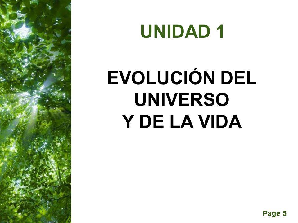 Page 5 UNIDAD 1 EVOLUCIÓN DEL UNIVERSO Y DE LA VIDA