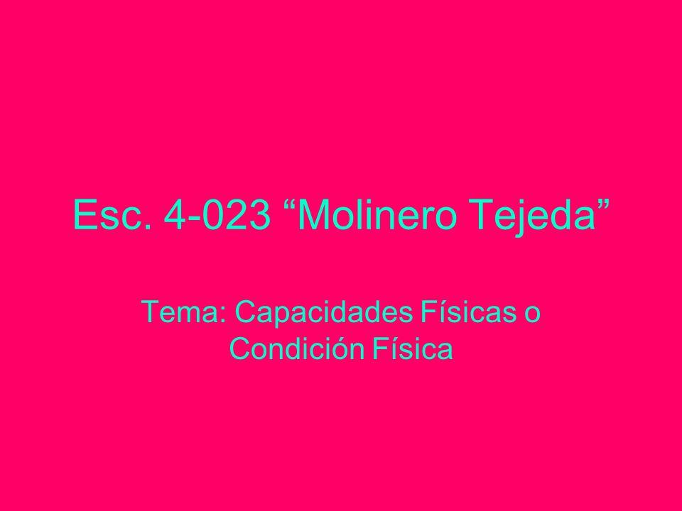 Esc. 4-023 Molinero Tejeda Tema: Capacidades Físicas o Condición Física