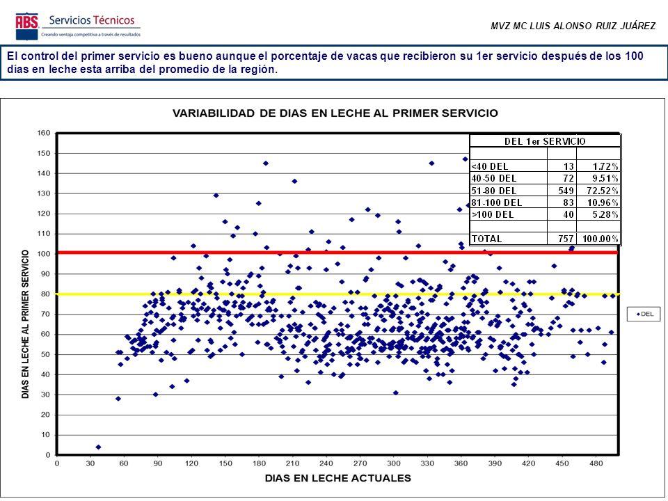 MVZ MC LUIS ALONSO RUIZ JUÁREZ En las últimas semanas ha bajado considerablemente el número de preñadas, sin embargo está afectando la estacionalidad ya que se tuvo un elevado porcentaje del hato preñado.