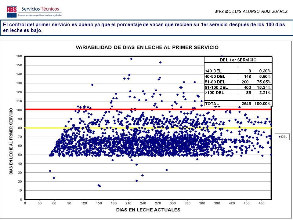 MVZ MC LUIS ALONSO RUIZ JUÁREZ En las últimas semanas ha bajado el número de preñeces, sin embargo considerando la época en la que estamos es normal por el efecto estacional.