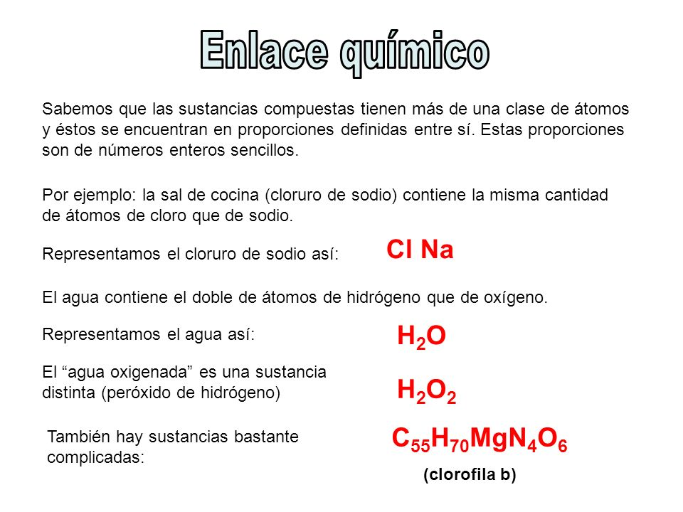 Sabemos que las sustancias compuestas tienen más de una clase de átomos y éstos se encuentran en proporciones definidas entre sí. Estas proporciones s