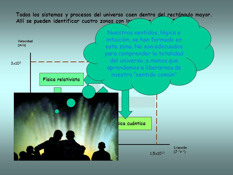Todos los sistemas y procesos del universo caen dentro del rectángulo mayor.