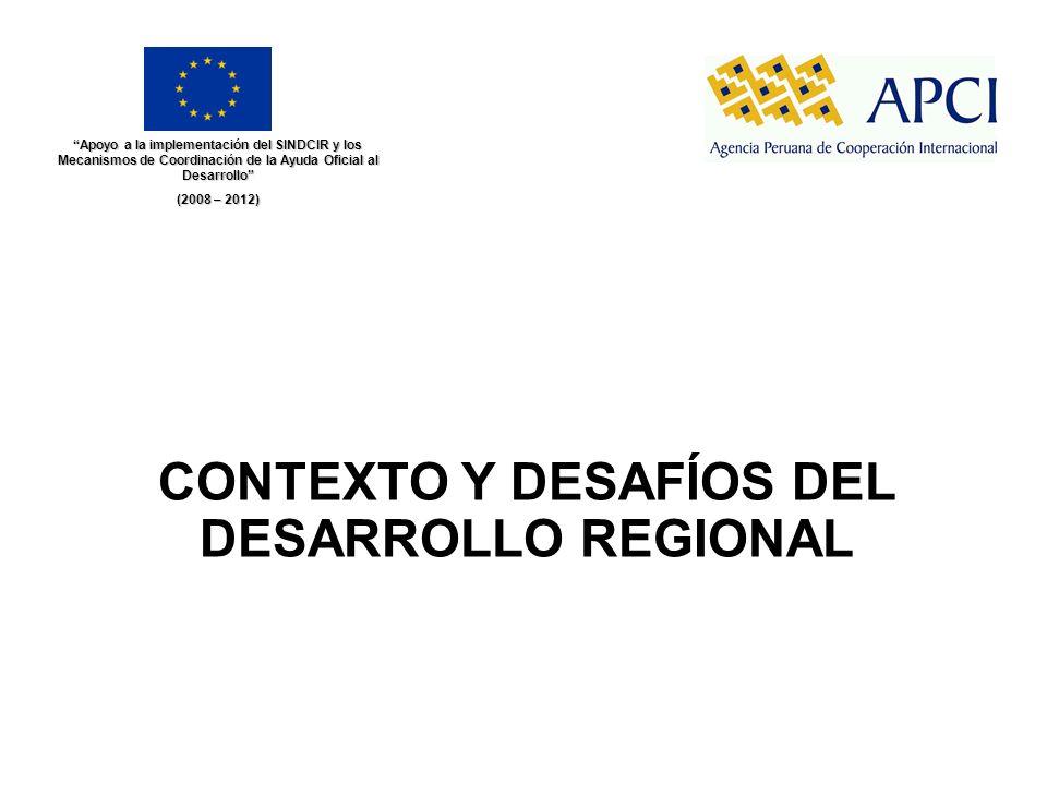 CONTEXTO Y DESAFÍOS DEL DESARROLLO REGIONAL Apoyo a la implementación del SINDCIR y los Mecanismos de Coordinación de la Ayuda Oficial al Desarrollo (