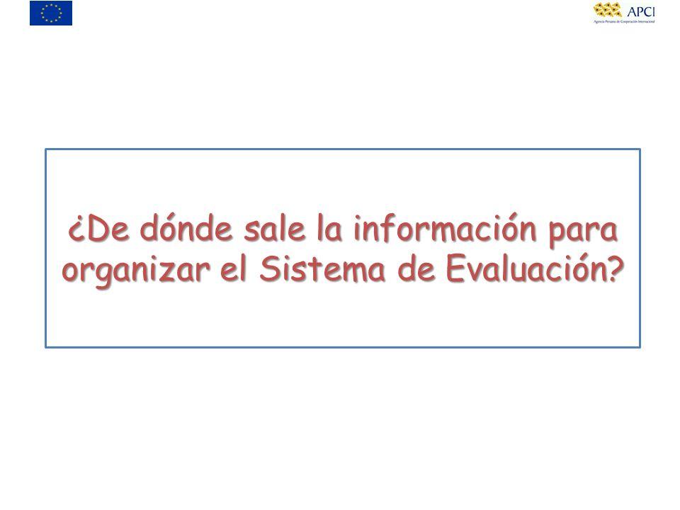 ¿De dónde sale la información para organizar el Sistema de Evaluación?