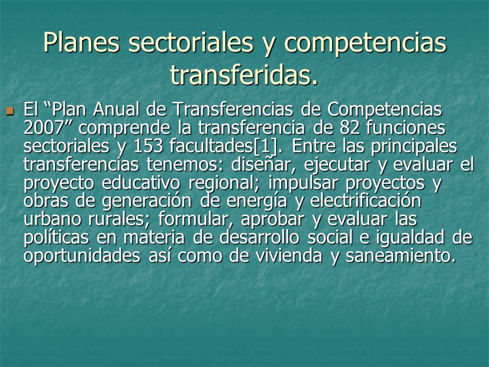 Planes Estratégicos Sectoriales- PESEM Son formulados por los Sectores y su principal aporte al planeamiento está en los Lineamientos de Política Sectorial que contienen.