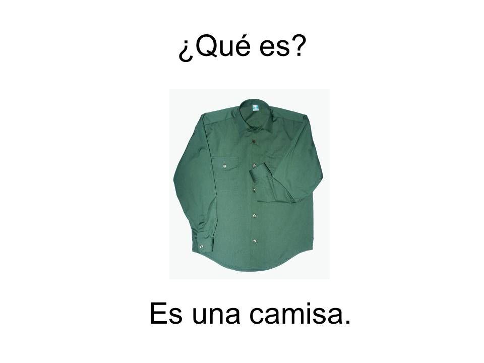Es una camisa. ¿Qué es?