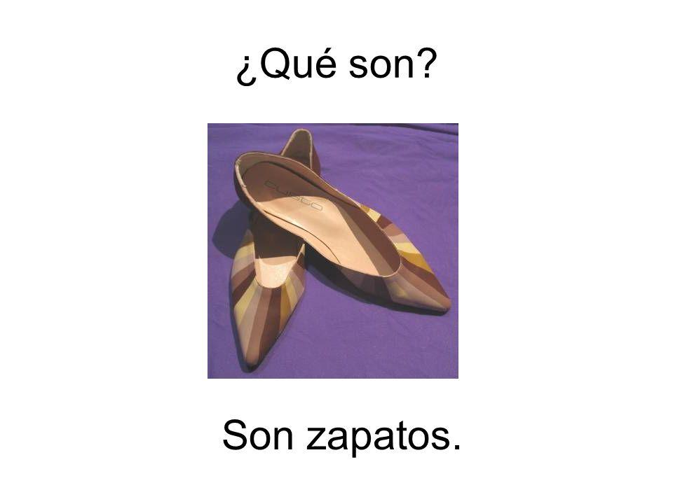 Son zapatos. ¿Qué son?