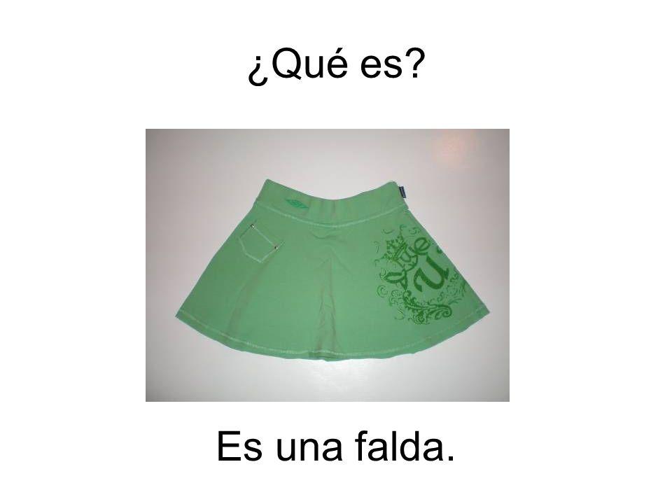 Es una falda. ¿Qué es?