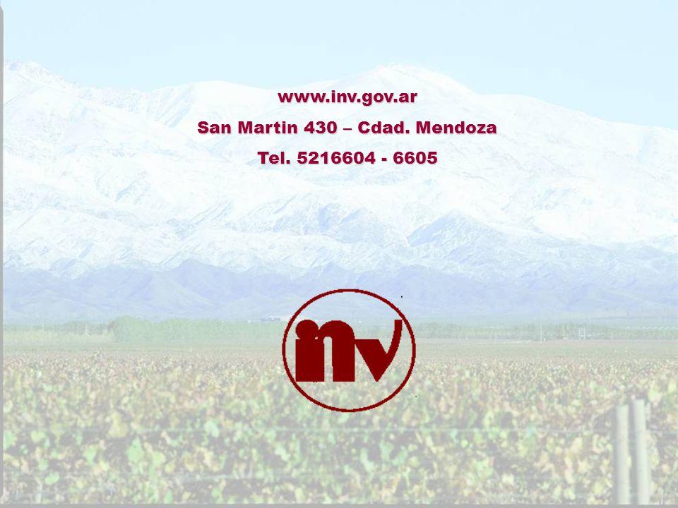 www.inv.gov.ar San Martin 430 – Cdad. Mendoza Tel. 5216604 - 6605