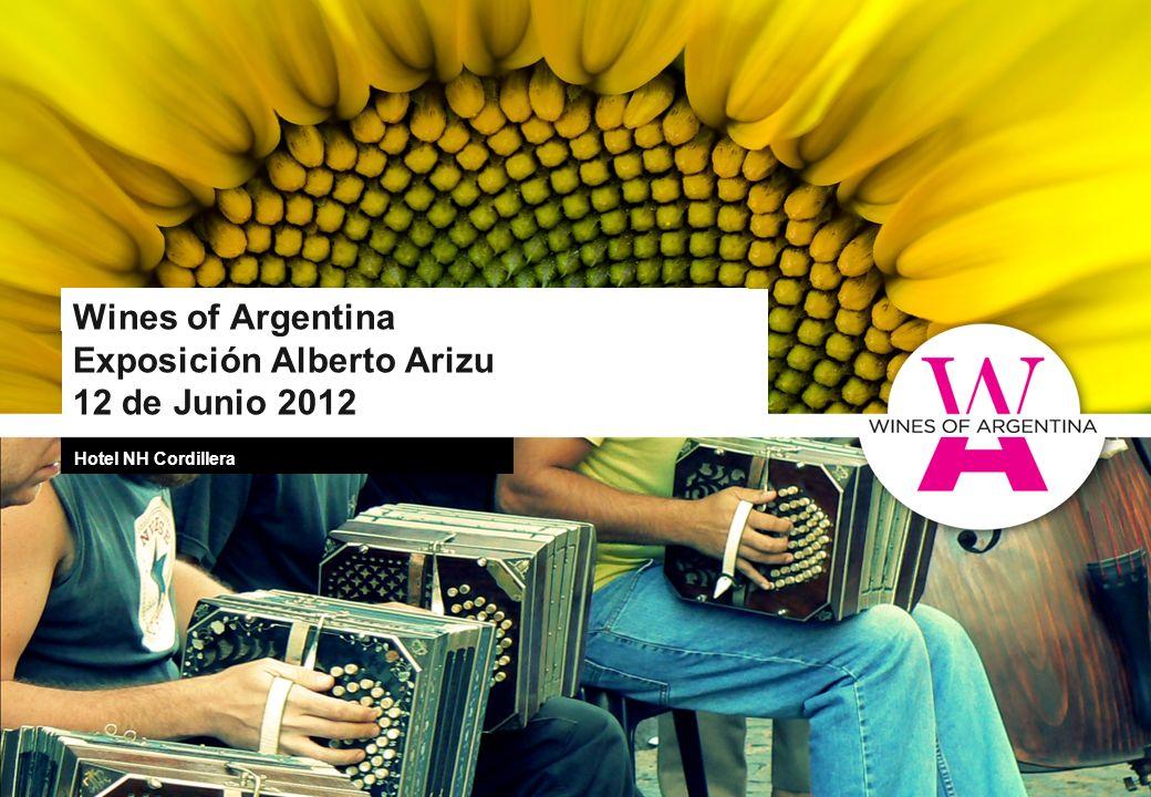 Wines of Argentina Exposición Alberto Arizu 12 de Junio 2012 Hotel NH Cordillera