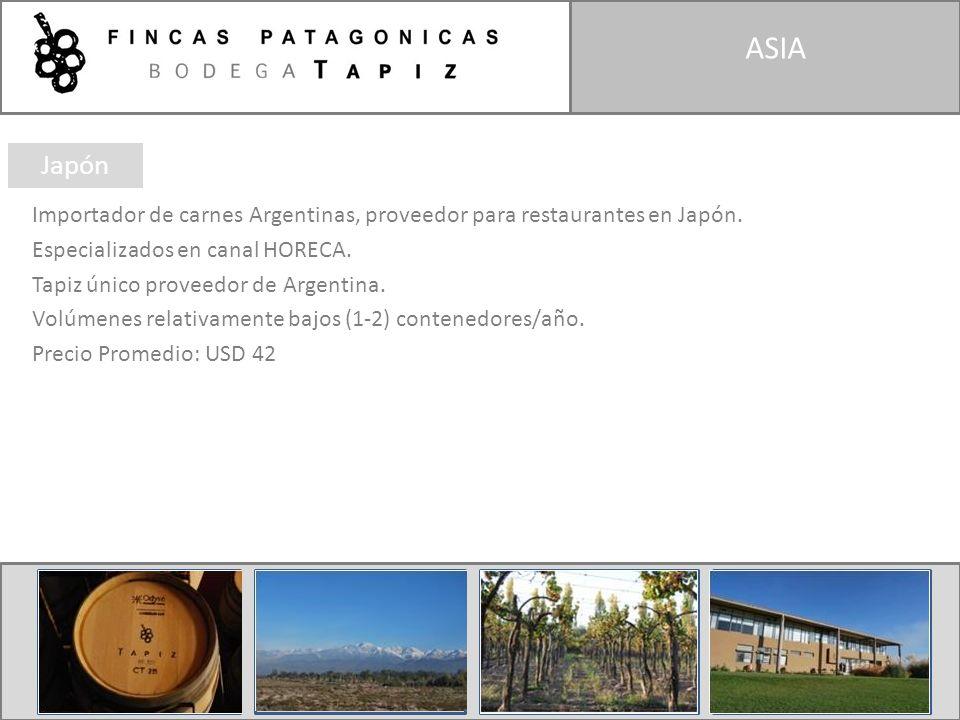 ASIA Importador de carnes Argentinas, proveedor para restaurantes en Japón. Especializados en canal HORECA. Tapiz único proveedor de Argentina. Volúme
