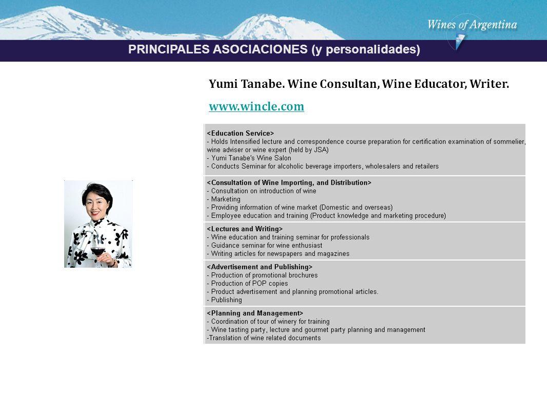 Argentina PRINCIPALES ASOCIACIONES (y personalidades) Yumi Tanabe.