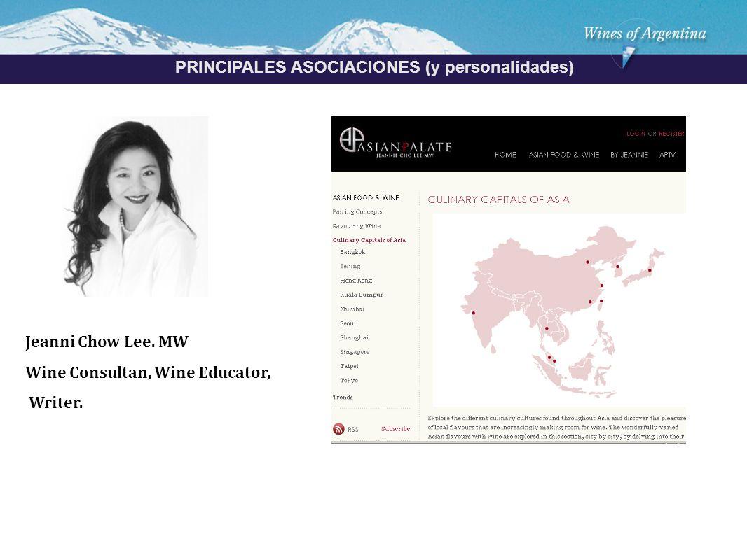 Argentina PRINCIPALES ASOCIACIONES (y personalidades) Jeanni Chow Lee.