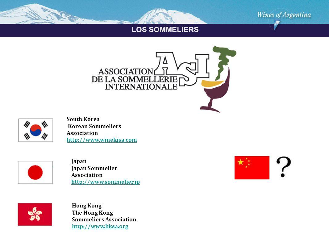 Argentina LOS SOMMELIERS South Korea Korean Sommeliers Association http://www.winekisa.com Japan Japan Sommelier Association http://www.sommelier.jp Hong Kong The Hong Kong Sommeliers Association http://www.hksa.org