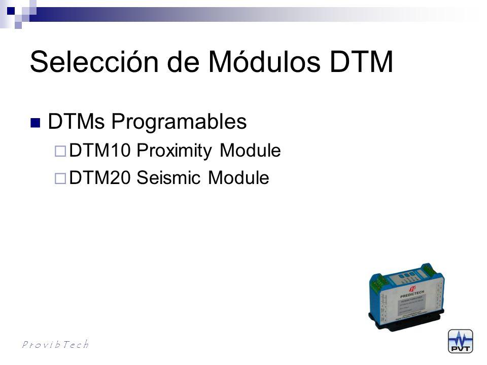DTM20/DTM20-101 Monitor- Transmisor de Vibración Distributivo con Aceleración, Velocidad y Desplazamiento Motores Bombas Ventiladores Sopladores Motores de Combustión Interna Compresores Equipos Centrifugos Generadores Turbinas Turbo Cargadores P r o v i b T e c h
