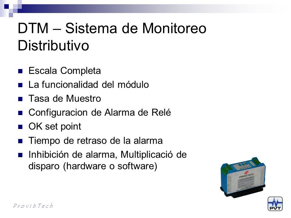 DTM – Altamente Confiable Entrada de Alimentación Redundante(1:20) Salida de 4-20mA Redundante Alarmas Duales P r o v i b T e c h