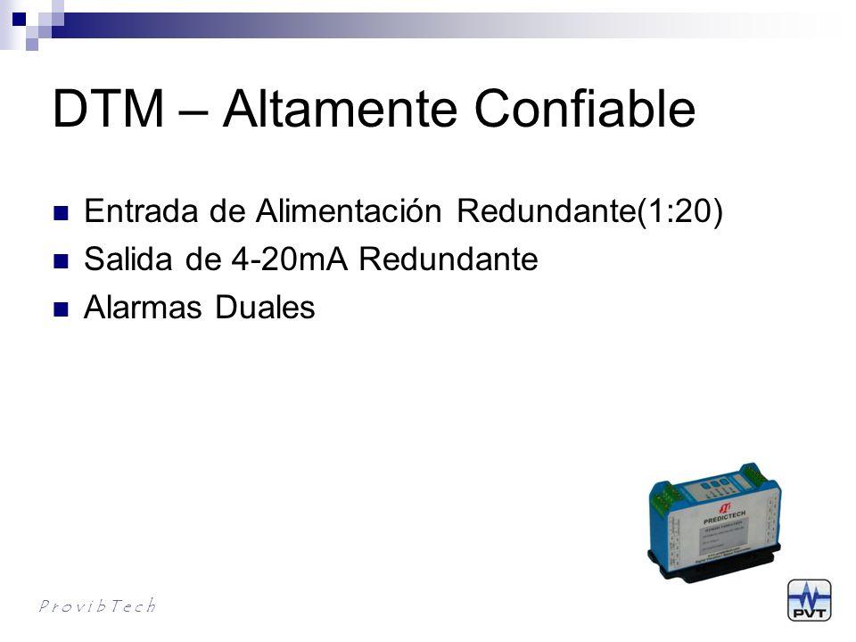 DTM – Completamente Configurable DTM puede ser programado en DTM20-101 AVD monitor DTM10-201 Prox.