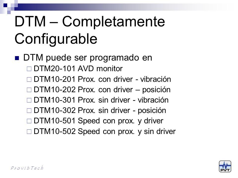 DTM características únicas DTM Inteligente El módulo inteligente DTM puede ser configurado en casi cualquier sistema de monitoreo.