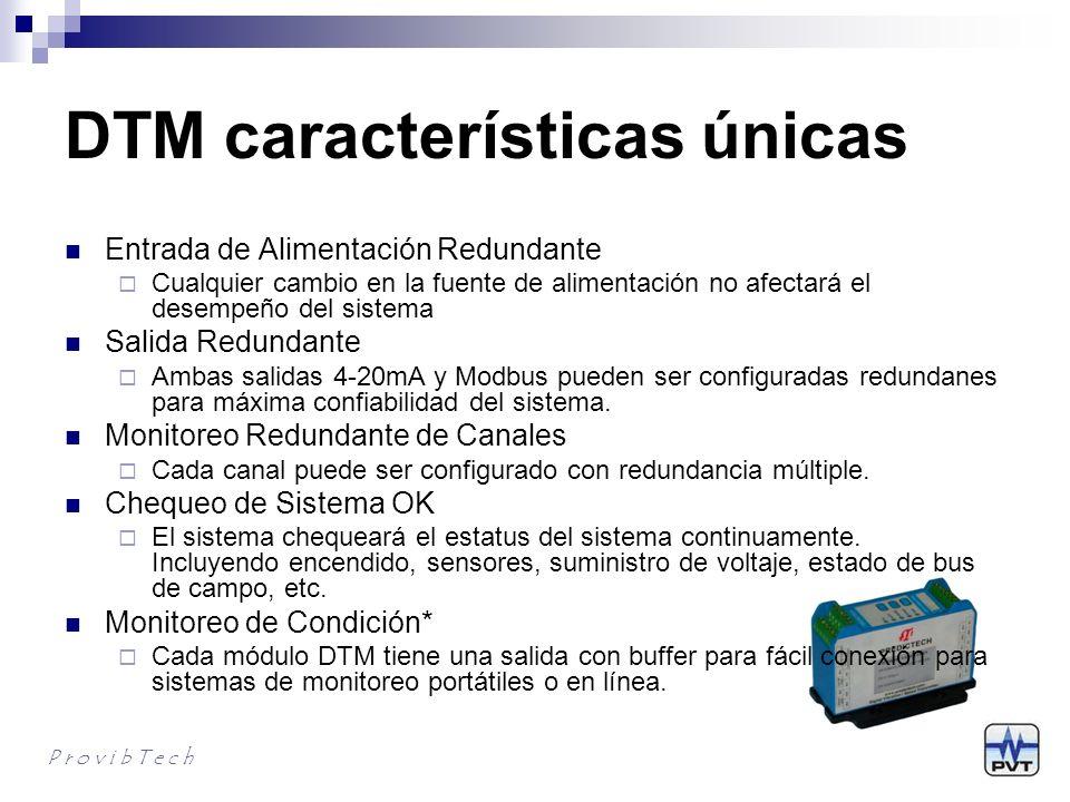 ¿Por qué DTM - 1 Reeplazo directo de un monitor de rack Tiene la mayoría de las funciones de un monitor de rack Con PCM370 o PLC, cumple con los requerimientos API670 Cada canal tiene alarmas duales, multiplicador de disparo, reset, bypass, etc.
