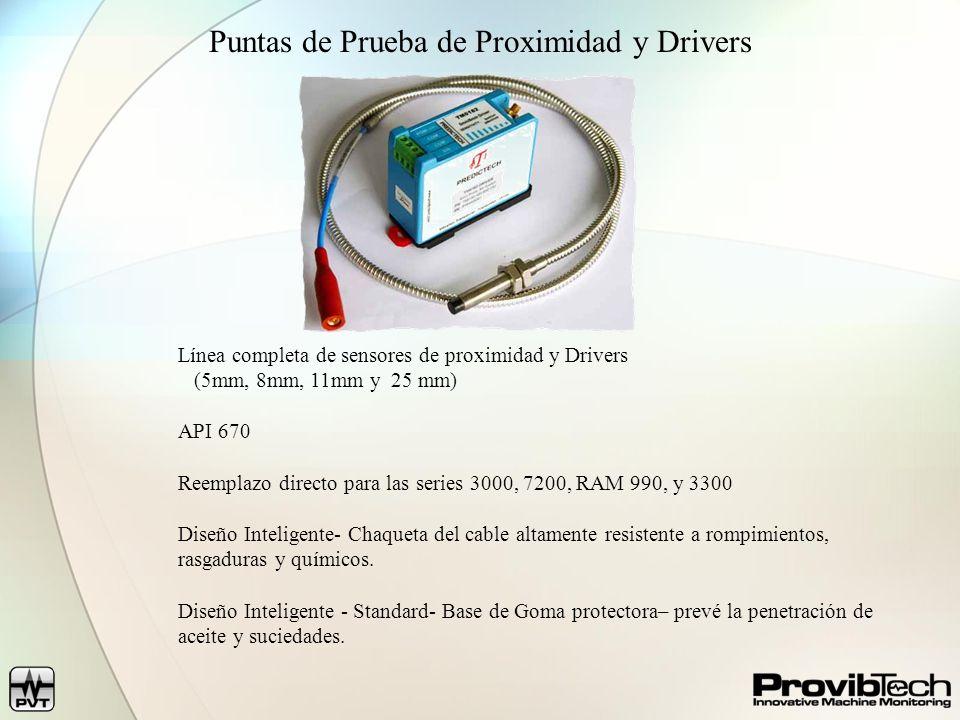 Puntas de Prueba de Proximidad y Drivers Línea completa de sensores de proximidad y Drivers (5mm, 8mm, 11mm y 25 mm) API 670 Reemplazo directo para la