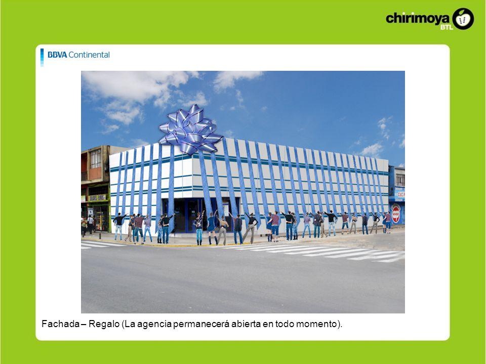 Fachada – Regalo (La agencia permanecerá abierta en todo momento).