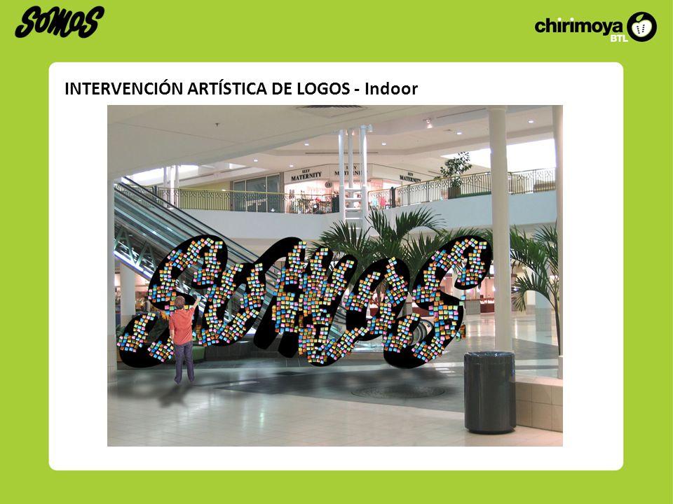 INTERVENCIÓN ARTÍSTICA DE LOGOS - Indoor