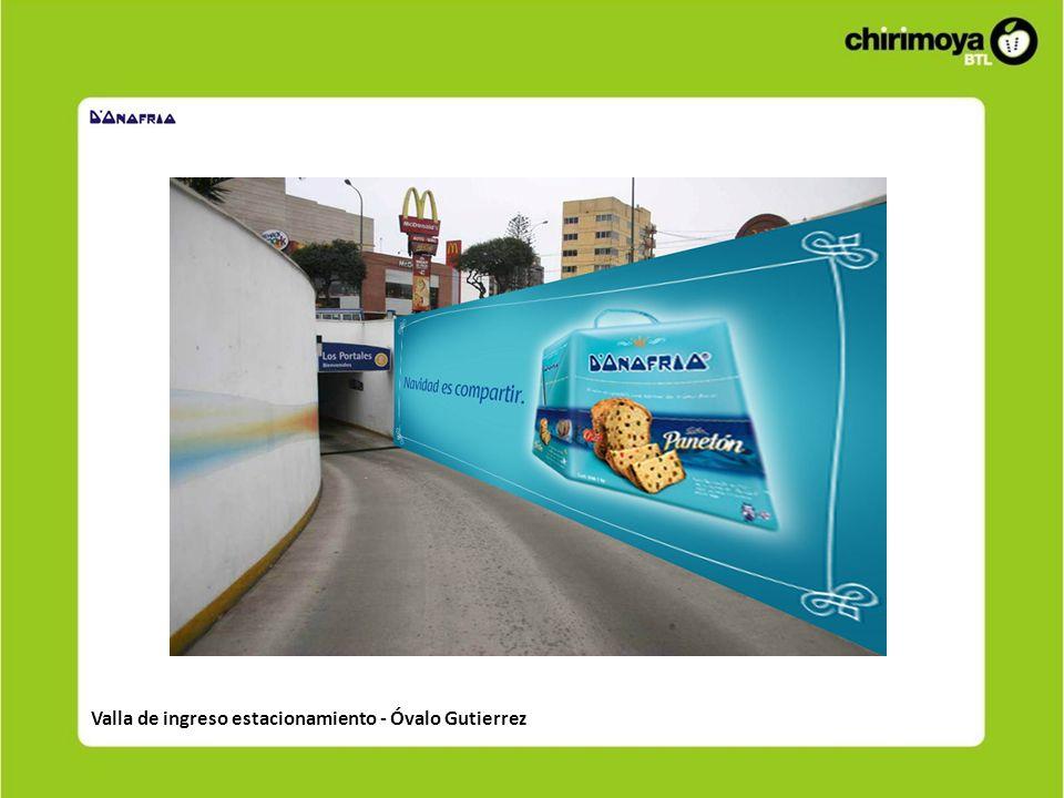 Valla de ingreso estacionamiento - Óvalo Gutierrez