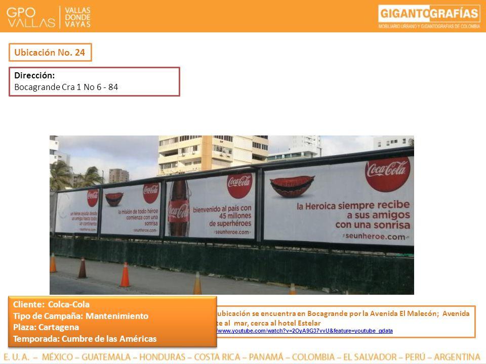 Dirección: Bocagrande Cra 1 No 6 - 84 Esta ubicación se encuentra en Bocagrande por la Avenida El Malecón; Avenida frente al mar, cerca al hotel Estel