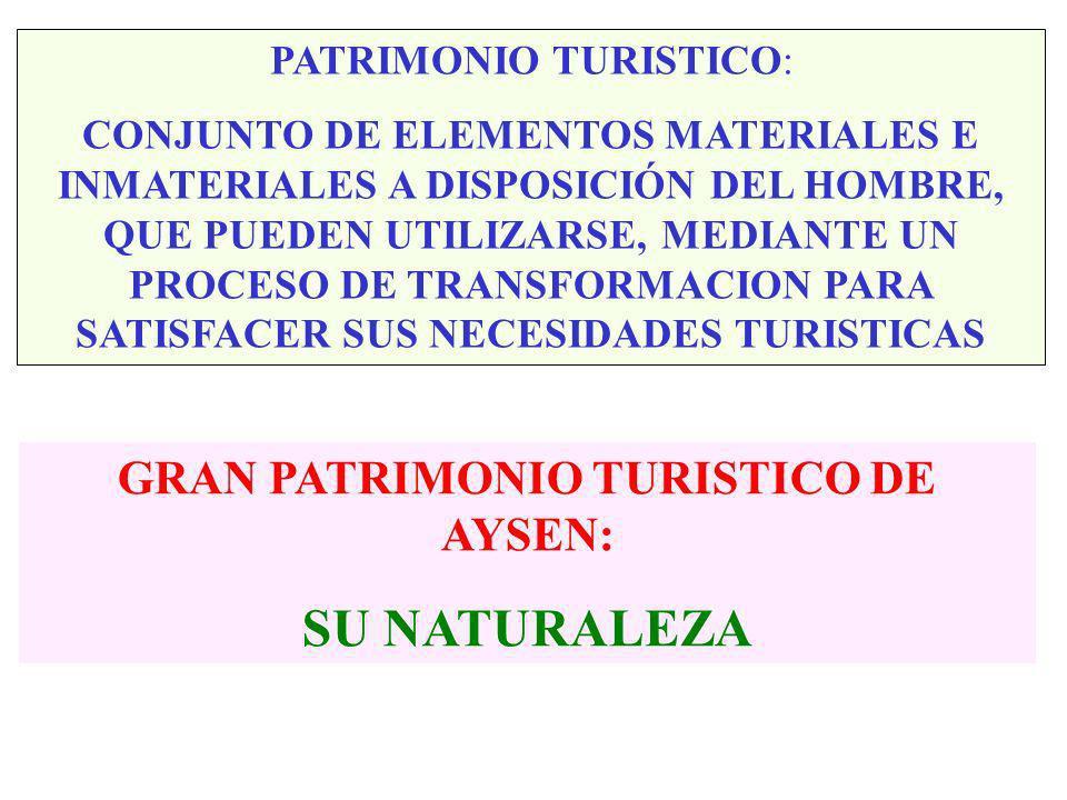 TAMAÑO DE LAS EMPRESAS MAS REPRESENTATIVAS DEL SECTOR TURISTICO EN REGION DE AYSEN No ESTABL EMPLEO TAMAÑO SERVICIO ALOJAMIENTO 124 355 2,86 SERVICIO