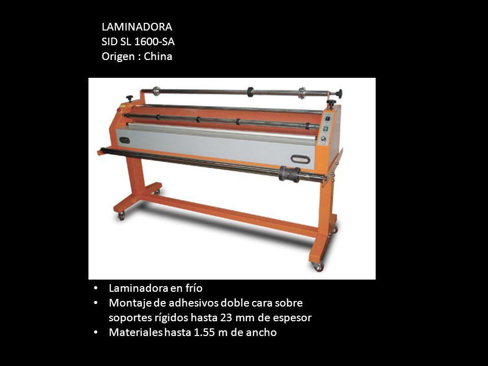 Laminadora en frío Montaje de adhesivos doble cara sobre soportes rígidos hasta 23 mm de espesor Materiales hasta 1.55 m de ancho LAMINADORA SID SL 16